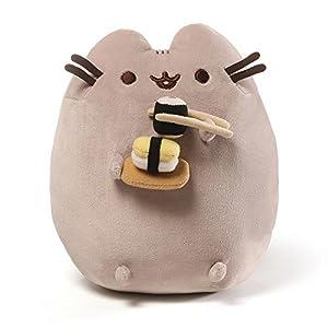 gund pusheen sushi snackable stuffed toy plush - 51SkxDc6t5L - GUND Pusheen Snackables Sushi Chopsticks Plush Stuffed Animal Cat, 9.5″