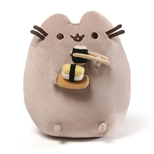 GUND Pusheen Snackables Sushi Chopsticks Plush Stuffed Animal Cat, 9.5″