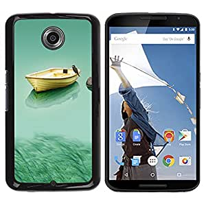 LECELL -- Funda protectora / Cubierta / Piel For Motorola NEXUS 6 / X / Moto X Pro -- Boat & Owl --