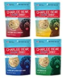 Charlee Bear Dog Treats Variety Pack includes Liver, Egg and Cheese, Chicken and Garden Vegetable, Turkey Liver and Cranberries (4 Pack) Larger Image
