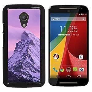 """For Motorola G 2ND GEN II , S-type Naturaleza Pink Mountain"""" - Arte & diseño plástico duro Fundas Cover Cubre Hard Case Cover"""