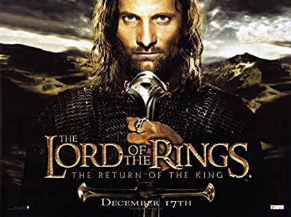 Amazoncom Lord Of The Rings The Return Of The King Poster Movie