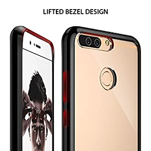 Huawei Honor 8 Pro Case, Ringke [FUSION] Tough PC Back TPU Bumper [Shock Absorption Technology/Attached Dust Cap] Raised Bezels Protective Cover For Huawei Honor 8 Pro / V9 - Ink Black