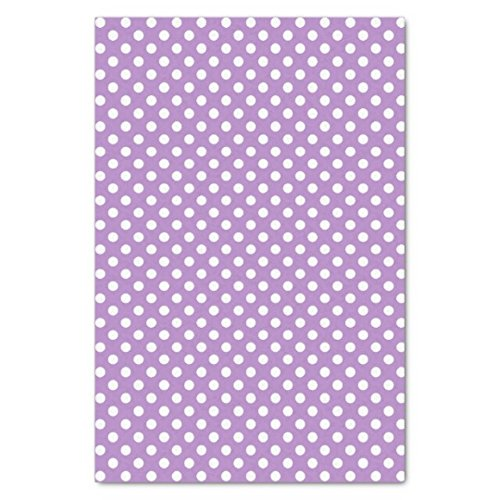 UNIQOOO 60 Sheets Premium Purple White Polka Dots Tissue Gift Wrap Paper Bulk, 20'' X 26'' Each,100% Recyclable Gift Wrapping Accessory,Perfect for Gift Wrapping, Wine Bottles, Any Art Craft Idea by UNIQOOO