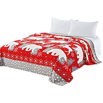 Amazon CaliTime Super Soft Throw Blanket For Bed Sofa Couch Impressive Red And White Christmas Throw Blanket