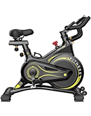 Indoor Spinning Exercise Bike with All Packages high strength steels Flywheel, Easy Adjustable Seat, Silent Magnetic Resistance Belt Drive