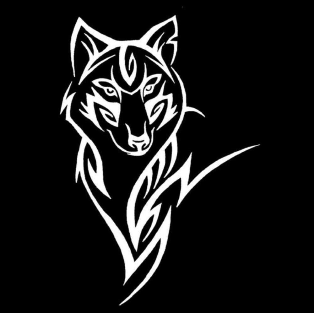 Etiqueta del vehículo Silueta del lobo patrón animal loco etiqueta ...