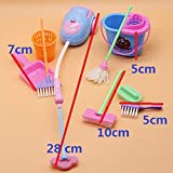 Liobaba Miniature Mop Dustpan Bucket Brush