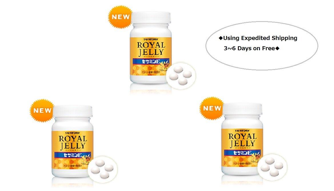 Suntory Royal Jelly + Sesamin E120 Tablets 30 Days×3bottles◆E-packet Estimated 6~10days◆