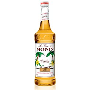 Monin - Vanilla Syrup, Versatile Flavor, Great for Coffee, Shakes, and Cocktails, Gluten-Free, Vegan, Non-GMO (750 ml)