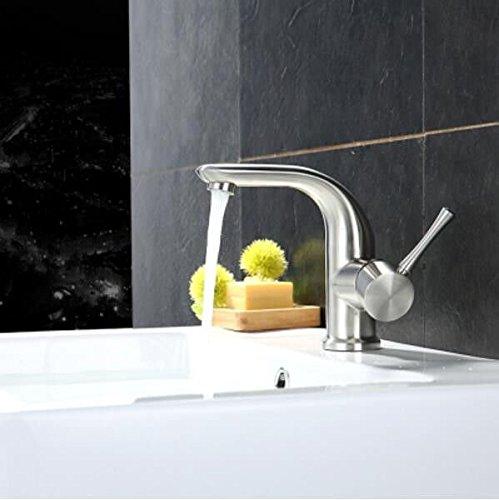 Decorry 304 Edelstahl Waschbecken Und Wasserhahn, Heißer Und Kalter Dusche, Waschbecken Waschtisch, Waschbecken, Unteren Bohrung, Einloch Wasserhahn Keramik Ventileinsatz Verchromung.