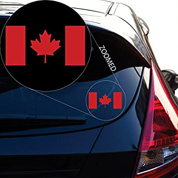 Canadian Flag Sticker Kamos Sticker - Window stickers for cars canada
