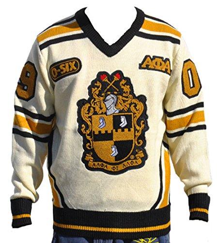 Big Boy Headgear Alpha Phi Alpha Fraternity Men's Wool V-neck Sweater 2XL Cream Color
