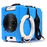 MOUNTO 125Pints Commercial Roto-Mold Compact Dehumidifier (Blue)