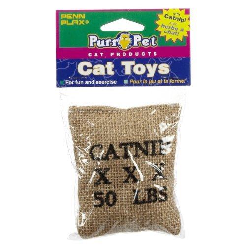 Penn Plax CAT532 Catnip Burlap Bag Catnip Toy by Penn-Plax