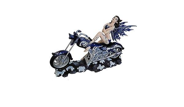 Grande Sexy tatuaje de hada Rider en moto figura estatua figura ...