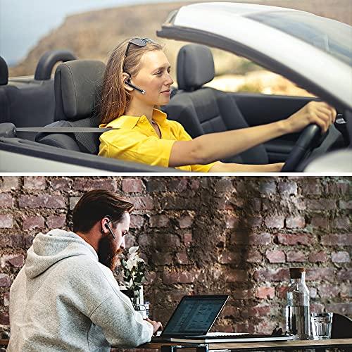 Cuffie Bluetooth 5.1, Auricolari Bluetooth Con Mic HD, 40H Ore di Riproduzione Auricolari Wireless, Cuffie In-Ear Bluetooth con Display LED, CVC8.0, 180H in Standby, Per Guida/Business/Ufficio