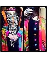 Salwar Style Women's Georgette Salwar Suit Dress Material (SS0406_Multi Color)