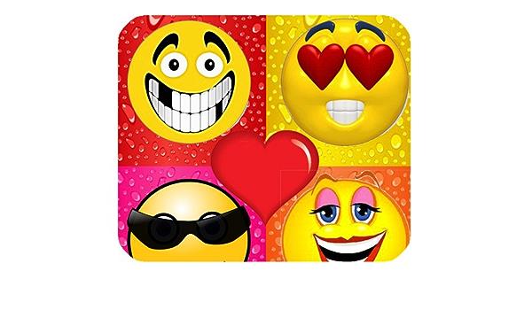 Funny Emoji cara expresión personalizada Rectángulo oficina ...