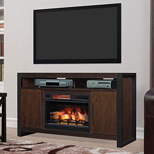 Cheap Costa Mesa 59-in Electric Fireplace TV Stand in Antique Coffee Black Friday & Cyber Monday 2019