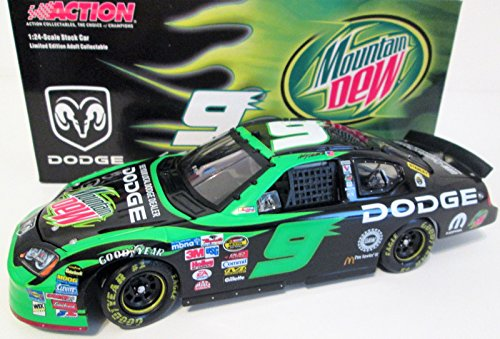 Bank Diecast Car Kasey Kahne 2005 Action #9 Mountain Dew Hood Opens Dodge Charger 1/24 Diecast . . . Limited Edition Only 432 Made