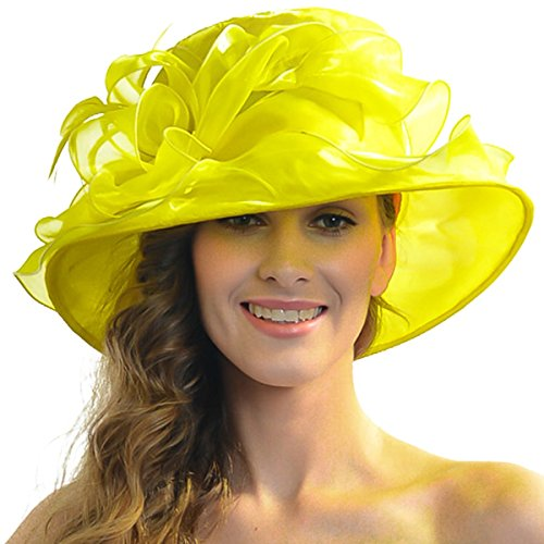 Women Satin Church Christening Derby Kentucky Wedding Formal Party Hat Ss035 (9 Colors)