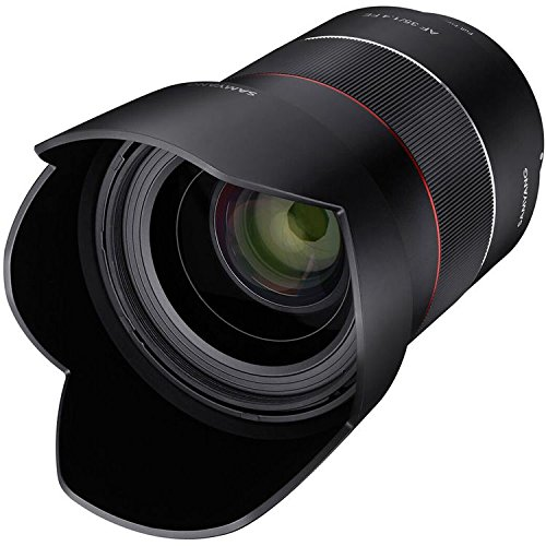 Samyang SYIO3514-E AF 35mm f/1.4 Auto Focus Wide Angle Full Frame Lens for Sony FE Mount, Black