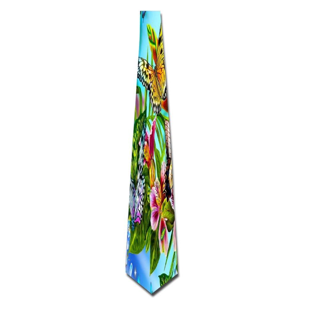 WuLion Many Lush Luxuriant Leaves Men's Classic Silk Wide Tie Necktie (8 CM)
