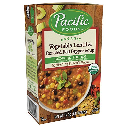 Pacific Foods Organic Reduced Sodium Vegetable Soup, 17oz, 12-pack ()