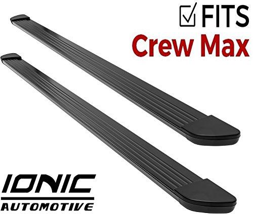 Ionic Gladiator Black Running Boards 2007-2018 Toyota Tundra CrewMax