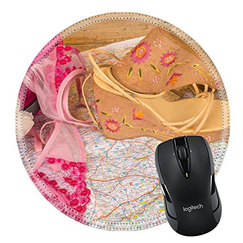 MSD Mousepad Round Mouse Pad/Mat 20949378 Female traveling a conceptual still life on - C Concept Sunglasses