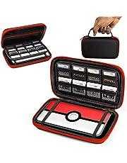 ORZLY® 2DSXL Case, Tasche für das Neu Nintendo 2DS XL - Aufbewahrungstasche / - Hartschalen Case/Cover/Hülle/Schutzhülle für die New Nintendo 2DS XL Konsole & Accesoires - ROT auf Schwarz