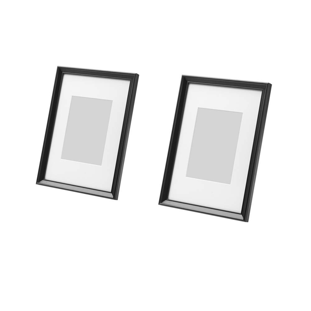KNOPPANG 2 Pack Frame Made To Display Pictures 5x7 Inch With Mat Or (International Standard A4 Size Pictures)8 1/4 x11 3/4 Inch Without Mat Black Picture Frame by MARI