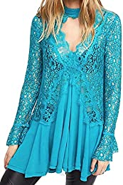 Women's Origins Pieced Lace Tunic Top