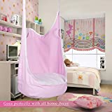 CO-Z Kids Pod Swing Child Hanging Chair Indoor Kid Hammock Seat Pod Nook (pink)