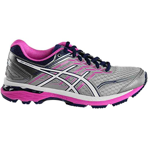 Pictures of ASICS Women's Gt-2000 5 Running Shoe T759N.9601 Pink Glow/White/Dark Purple 7