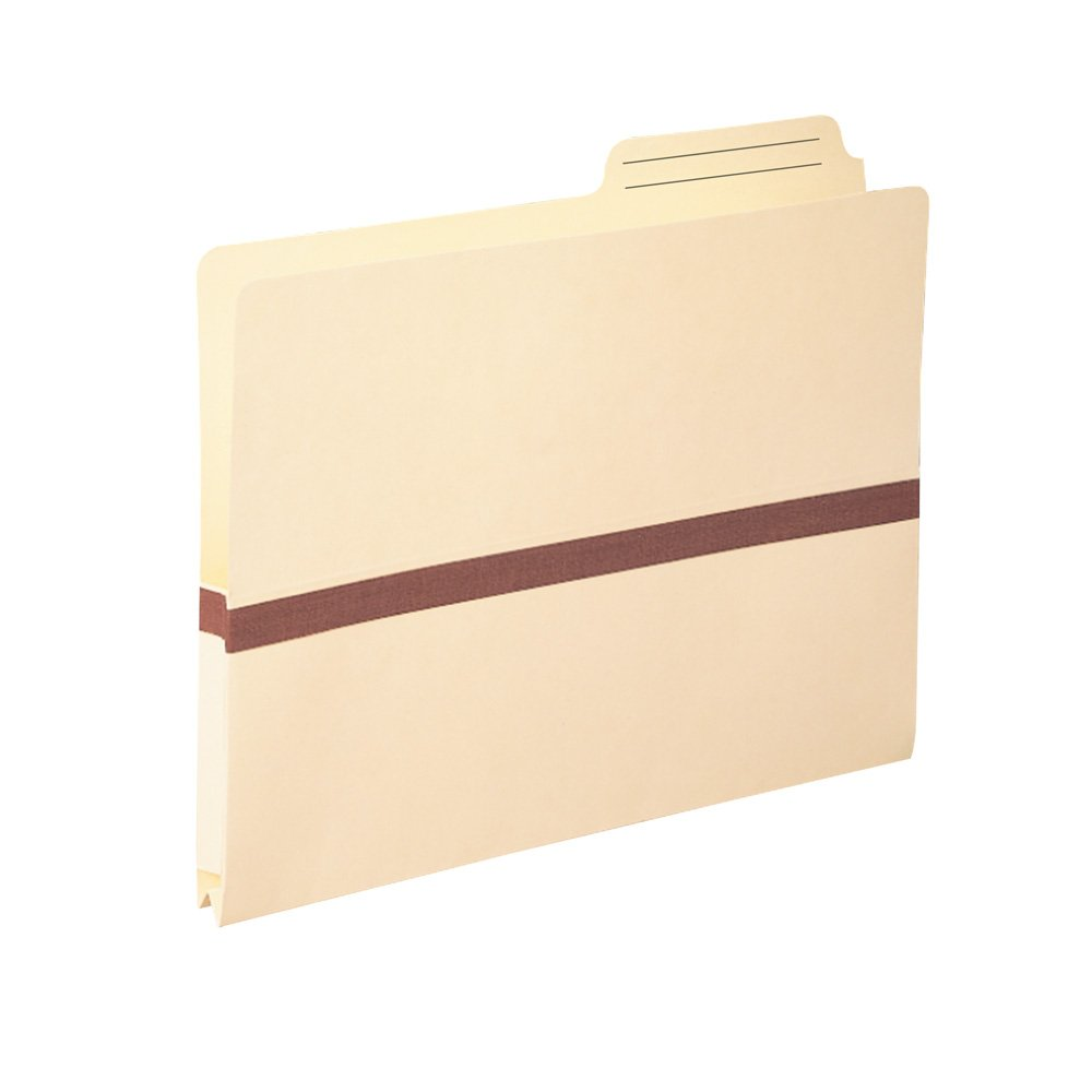 Smead File Pocket, 2/5-Cut Printed Tab, 1'' Expansion, Reinforced, Letter Size, Manila, 50 per Box (75487)