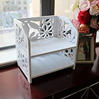 VERCART Square Frame Finishing Cosmetic Storage Rack Bathroom Shelf Corner Storage Bathroom Vanity Countertops Shelf Pack