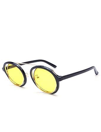 YHMC Gafas De Sol Retro Con Montura Circular Con Lentes De ...