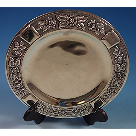 Aztec Rose By Maciel Mexican Mexico Sterling Silver Dessert Plate 8 1765