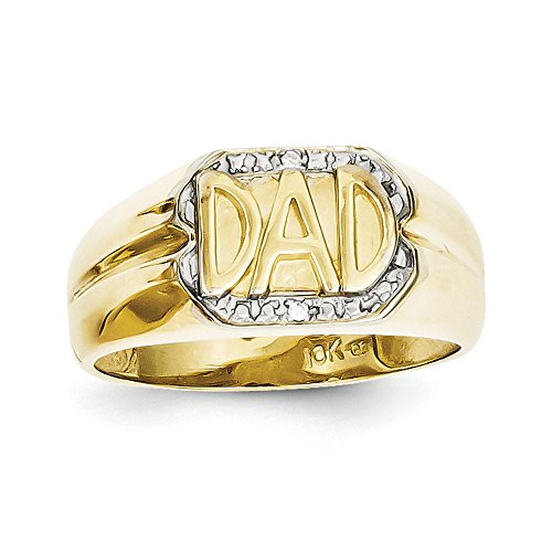 10k Gold Dad Diamond Ring - 9
