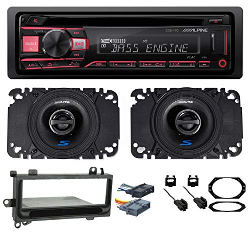 Alpine CD Player Stereo Receiver+Front Speakers for Jeep Wrangler 1997-2002 TJ