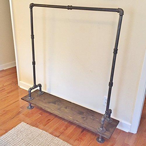 Industrial Vintage Style Steel Pipe Garment Hanging Rack