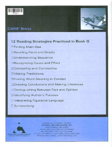 Comprehensive Assessment of Reading Strategies - CARS Series G ...