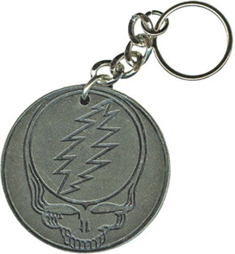 Licenses Products Grateful Dead SYF Metal Keychain (Grateful Dead Silver Ring)