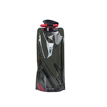 Sports & Entertainment Foldable Drinking Water Bottle Bag Pouch Outdoor Hiking Camping Pe Water Bag Soft Flask Squeeze For Running Cycling Water Bags Campcookingsupplies