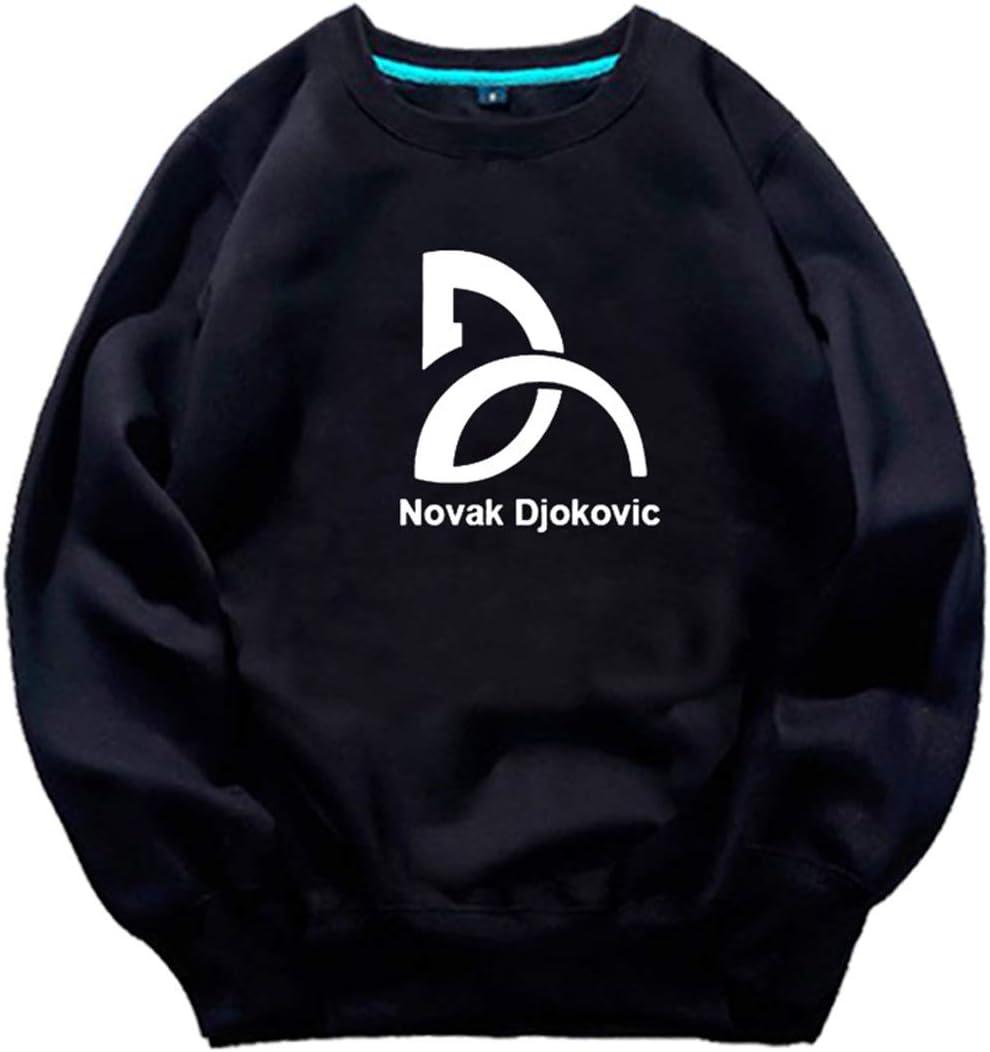 DHRBK Sudadera con Capucha para Hombre Federer Nadal Murray Djokovic Tenis Ropa Deportiva Thicken Casual 3D Print Fans Pullover