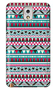Online Designs aztec pattern red PC Hard new Quality galaxy note 3 case