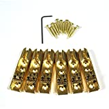 Fastmusic 6pcs Gold Single String Guiatr Bass Bridges Tailpieces