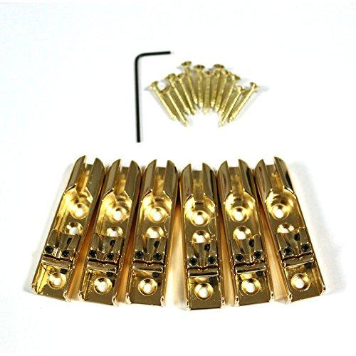 Fastmusic 6pcs Gold Single String Guiatr Bass Bridges Tailpieces -